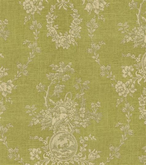country fabric home decor print fabric waverly country house toile dill