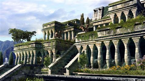 Gardens Of The Ancients - hanging gardens of babylon drawing the 7 wonders of