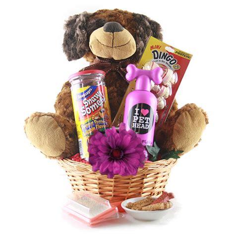 puppy gift basket eat world pet gift basket design it yourself gift baskets