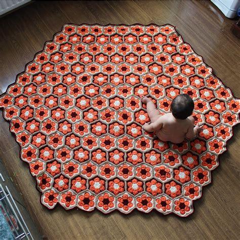 flower pattern rugs crochet crochet rug african flower pattern