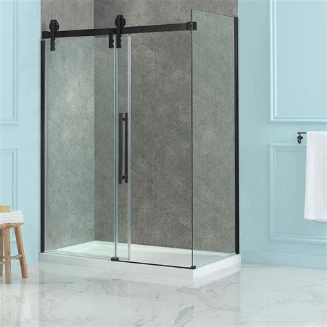 Shower Door And Panel Shop Ove Decors Sedona 78 75 In H X 30 375 In W Clear Shower Glass Panel At Lowes