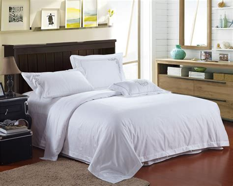 White Hotel Bedding by 4pcs 100 Cotton Luxury White Hotel Bed Linen
