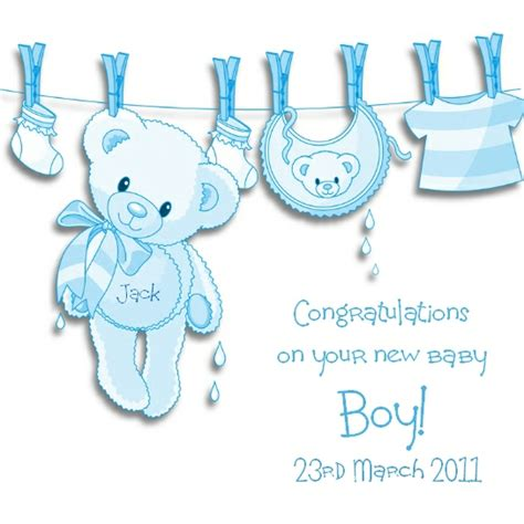 Gift Card Messages For New Baby Boy - new baby boy card