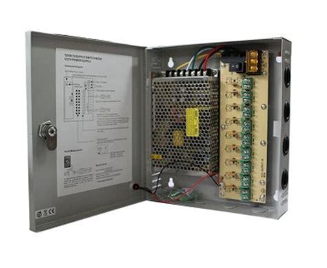 Power Supplay Panel Box 9ch 12v 10a cctv 9ch power supply ac to dc distribution panel 12v 5a