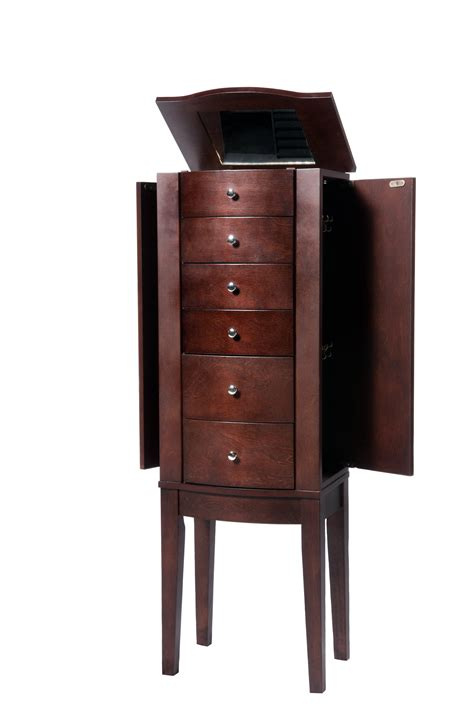 powell armoire powell merlot jewelry armoire by oj commerce 398 315 185 00