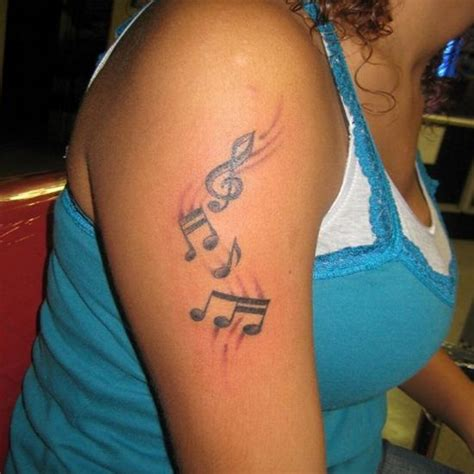 house music tattoo designs women shoulder music note tattoo design sheplanet
