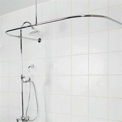 d shaped shower curtain rod victorian style showers shower accessories