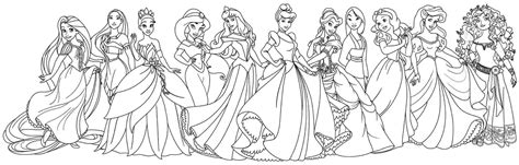 Coloring Pages Disney Princesses Together by All Disney Princesses Together Coloring Pages