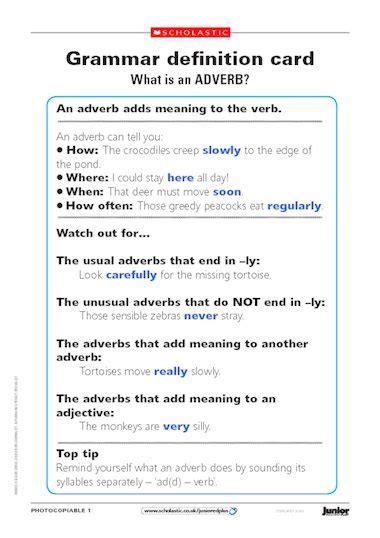 printable grammar games ks2 grammar safari park adverbs and pronouns primary ks2