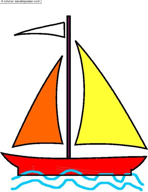 dessin d un bateau à voile coloriage voilier sans d 233 passer