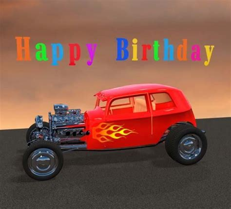 Happy Birthday Hot Rod. Free Happy Birthday eCards