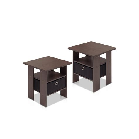 night stands for bedrooms furinno bedroom night stand petite dark brown set of 2
