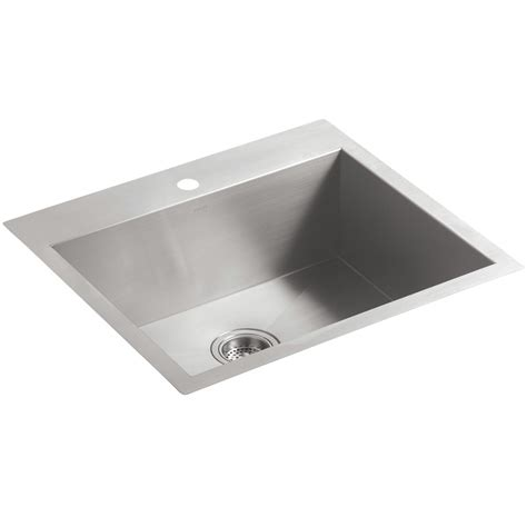kohler vault 3822 1 na medium stainless steel kitchen sink