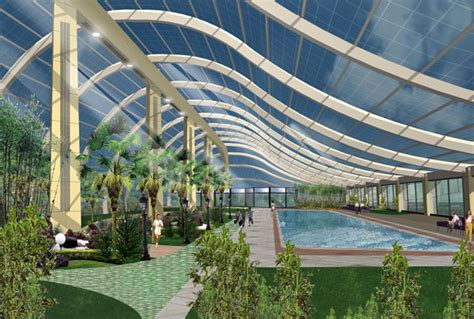 sustainable recreation center and garden designed for