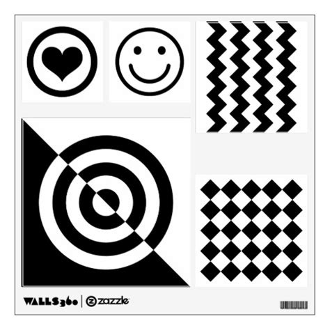 Stickers For Baby Room Walls baby visual stimulation black white shape pattern wall