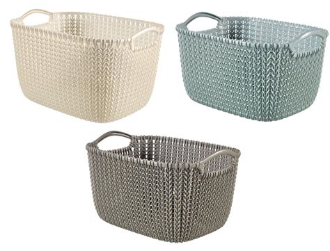 Curver Knit by Curver Knit Collection Rectangle Handled Plastic Kitchen