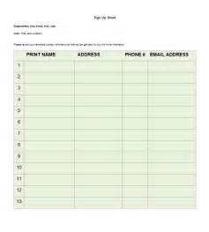 Sign In Sheet Template Word by Doc 463620 Word Template Sign Up Sheet Sign Up Sheets