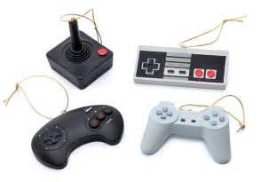 Nintendo Christmas Ornaments - classic video game controller ornament set thinkgeek