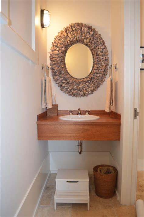 powder room sink ideas powder room teak sink shell mirror