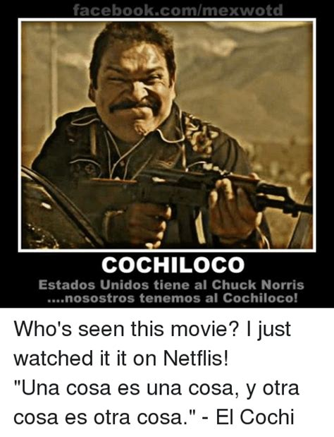 Cochiloco Memes - 25 best memes about chuck norris mexican word of the day