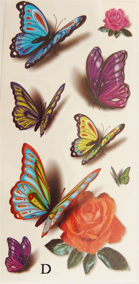 temporary rose tattoo 1000 ideas about colorful butterfly on