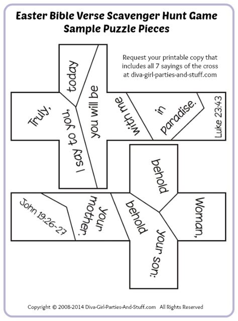 free printable bible jigsaw puzzles easter bible verse scavenger hunt puzzle game