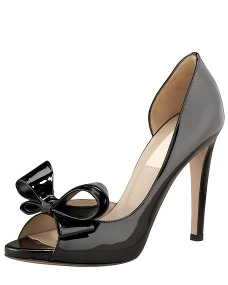 Valentino Metallic Bow Dorsay by Valentino Couture Bow D Orsay