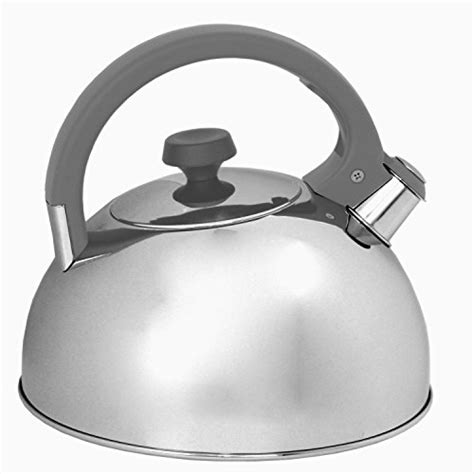 magnetic induction tea kettle oneida 3qt induction ready stainless steel whistling tea kettle with gray ebay