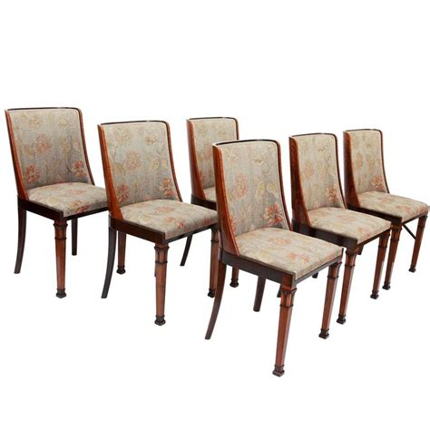 set of six deco dining chairs with classicized