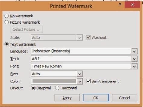 langkah membuat watermark pondok microsoft office langkah membuat tampilan