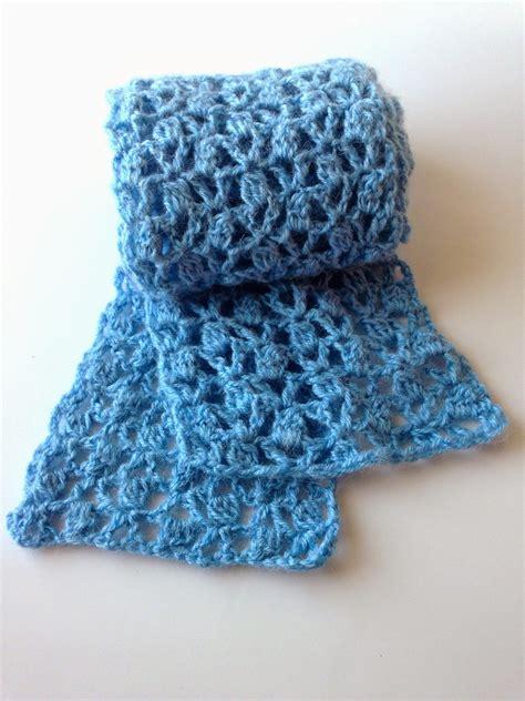 pattern crochet lace 5 little monsters lace cluster scarf a free crochet pattern