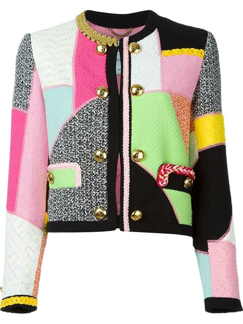 Patchwork Jackets - moschino patchwork jacket lyst