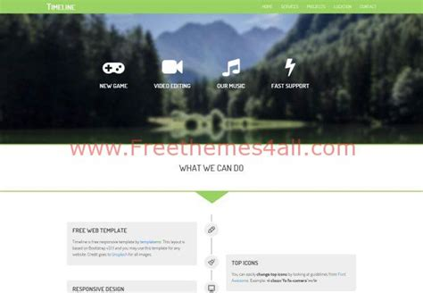 bootstrap themes free css bootstrap responsive nature css3 template download