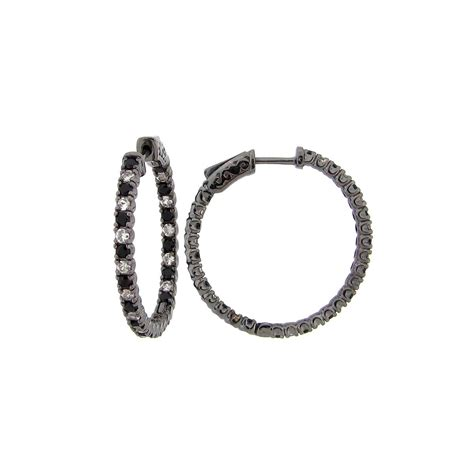 Wst 11021 Chain Necklace Black dilamani jewelry black spinel white sapphire earring
