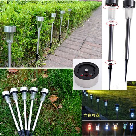 color changing solar path lights solar power color changing led path lights outdoor garden