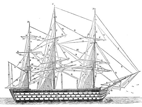 ship rigging selected extracts from quot famous ships of the british navy quot