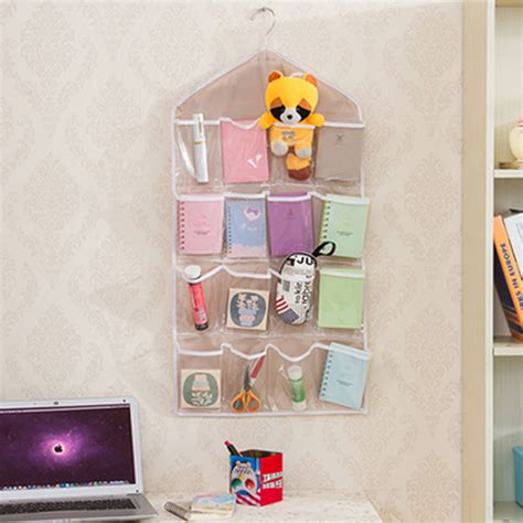 creative 16 pockets hanging wall mounted closet storage