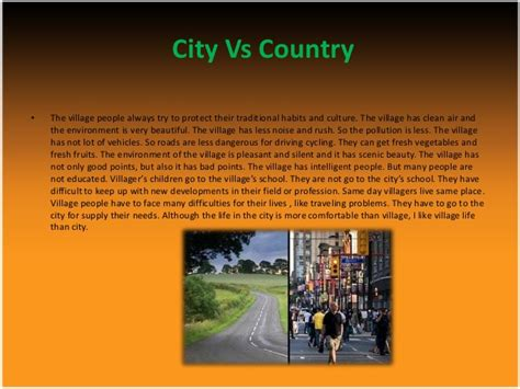 City Vs Country Essay by Living In The City Versus Country
