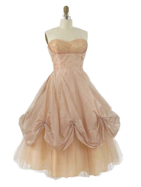 authentic vintage dresses strapless champagne tea