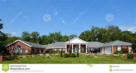 u home u shaped ranch home editorial stock photo image 58916693