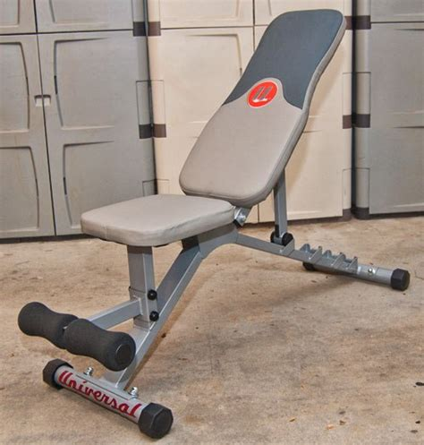 universal workout bench health all seasons cyclist