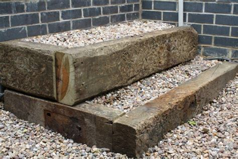 Raised Beds Sleepers by Raised Beds From Used Oak Railway Sleepers