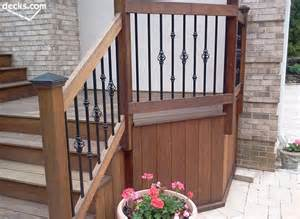 Stair Gate Banister Deck Railing Designs Decks Com
