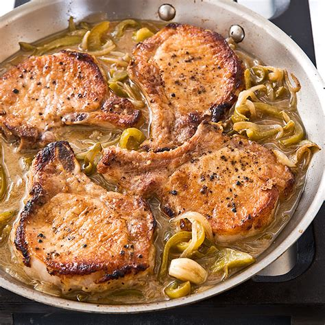 pork chops with vinegar peppers cook s country - Cook Country Kitchen Recipes
