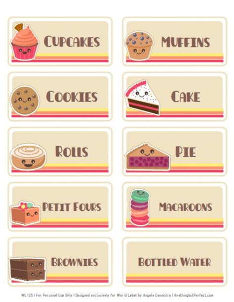 printable price tags uk free bake sale printbles includes flyers food labels