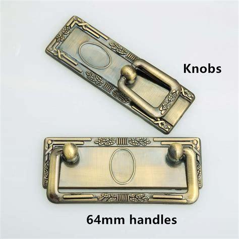 64mm center to center drawer pulls 64mm retro dresser handles knobs antique brass drawer