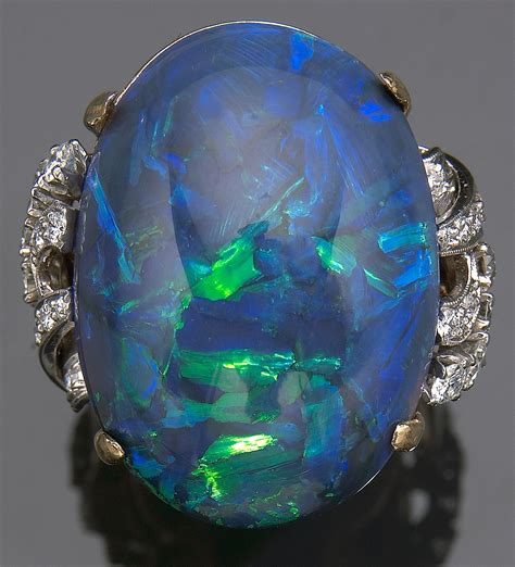 black opal pin black opal jewelry rings electric blue solid on