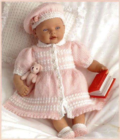 baby doll knitting patterns uk posh pink baby free knit pattern baby born 1