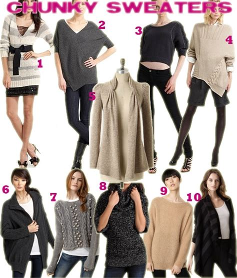Trends To Avoid The Top Second City Style Fashion 2 2 by Fall Winter 10 Trends Chunky Sweaters Fountainof30