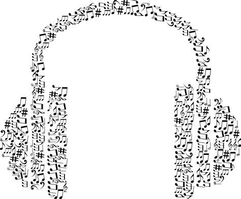 Free Clipart Of A Pair of Headphones made of black and ... Elvis Clipart Graphics Free